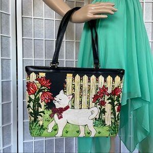 Bead Sequin Bling Cat Kitten Floral Handbag